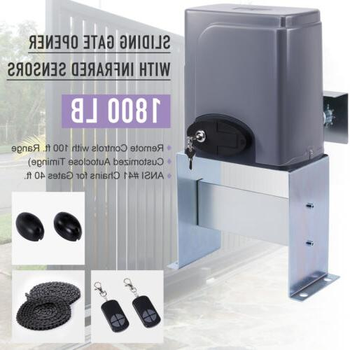 smart sliding 380w gate opener with infrared
